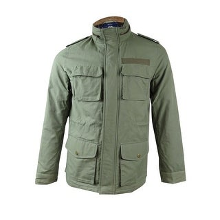 American Rag Men's Military Utility Jacket (Dusty Olive, S) - dusty olive - S