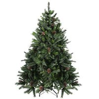7' Snowy Delta Pine with Pine Cones Artificial Christmas Tree - Unlit - green