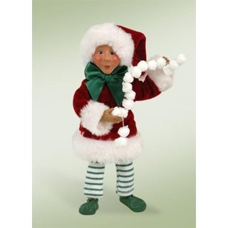 """7"""" Kindles """"Pops with Popcorn"""" Elf Bendable Poseable Christmas Figure"""