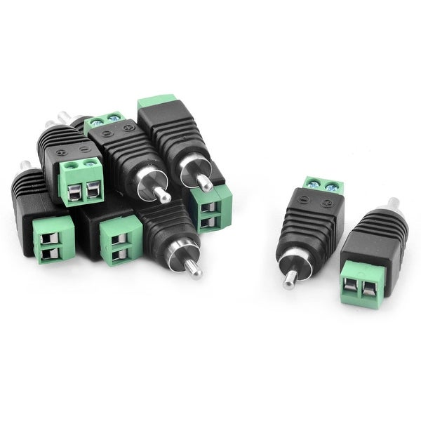 25V Male DC Power Jack Plug Adapter Connector 10 PCS for CCTV Camera