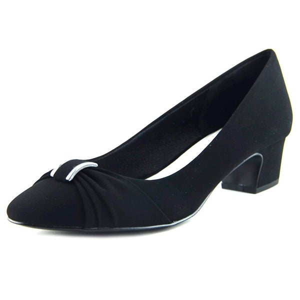 Easy Street Eloise Women Round Toe Synthetic Black Heels