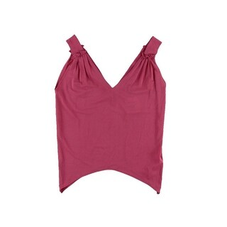Zara W&B Collection Womens Tank Top Cropped Double-V