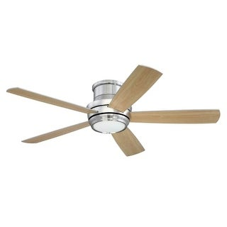 """Craftmade TMPH525 Tempo Hugger 52"""" 5 Blade AC Motor Indoor Ceiling Fans with Light Kit Included"""