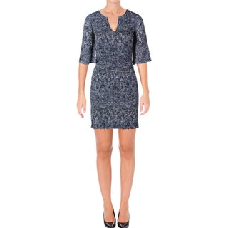 Ella Moss Womens Amora Casual Dress Crepe Printed