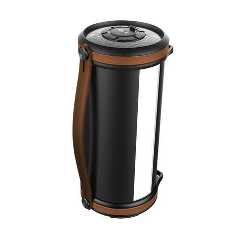 Bluetooth Media Speaker with LED and RGB light - Brown