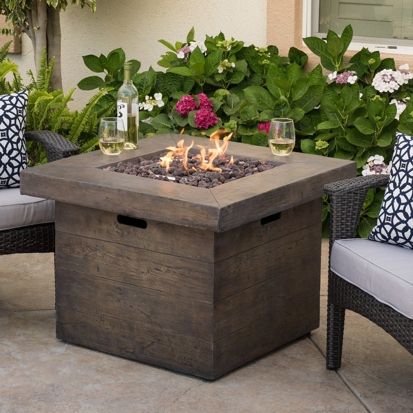 Dakota Outdoor Square Fire Pit by Christopher Knight Home. Opens flyout.