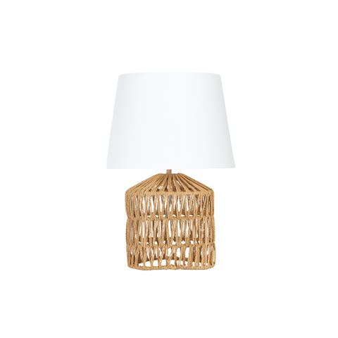 Rope Table Lamp with Empire Shade