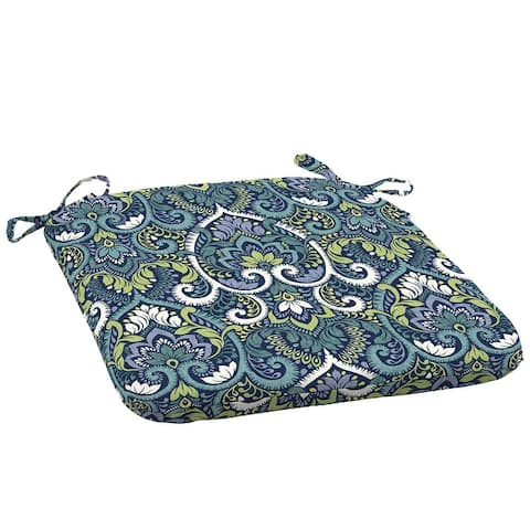 Arden Selections Sapphire Aurora Damask Outdoor Seat Cushion (2-Pack) - 18 in L x 19 in W x 2.5 in H