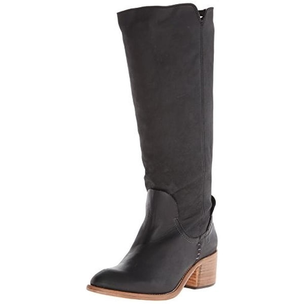 Dolce Vita Womens Gage Knee-High Boots Leather Braided Back