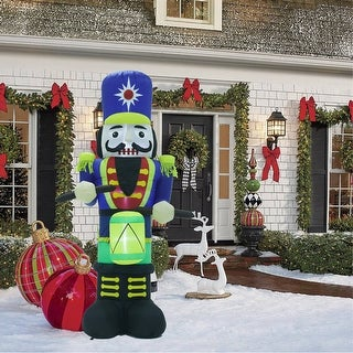 Link to 7Ft Nutcracker Dummer Inflatable with LED Lights Similar Items in Christmas Decorations