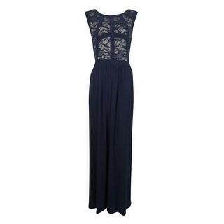 R&M Richards Women's Glitter Lace Dress