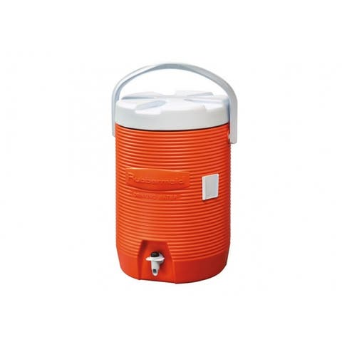 Rubbermaid 1683 Water Cooler with Drip-Resistant Spigot, Orange, 3 Gallon