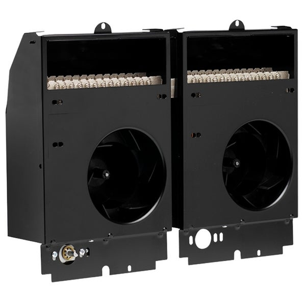 Cadet CST308 Com-Pak Twin 10240 BTU Electric Wall Heater Assembly - Black