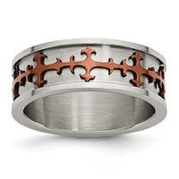 Stainless Steel IP Chocolate Plated Ring (8 mm)