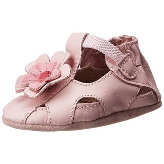 Robeez Pretty Pansy Leather Crib Shoes