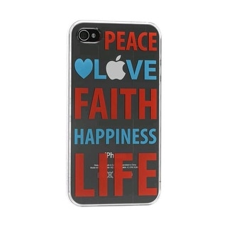 Cygnett Peace/Love Shell Case for Apple iPhone 4/4S (Clear)