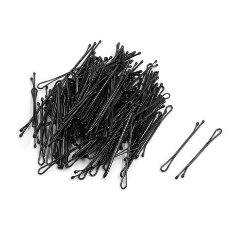 407Pcs Black Metal Invisible Flat Top Bobby Pins Hair Grip Clips Salon Barrette