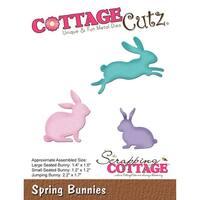 """Cottagecutz Die-Spring Bunnies, 1.2"""" To 2.2"""""""
