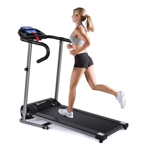 Goplus 1100W Folding Treadmill Electric Support Motorized Power