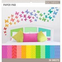"Brights; 12 Designs/3 Each - K&Company Basics 12""X12"" Paper Pad 36/Pkg"