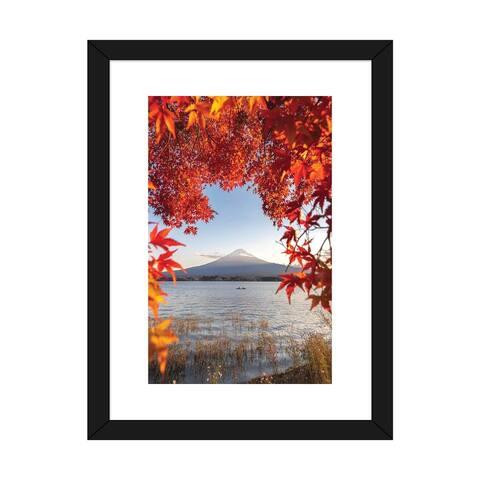 "iCanvas ""Autumn In Japan II"" by Daisuke Uematsu Framed Fine Art Paper Print"