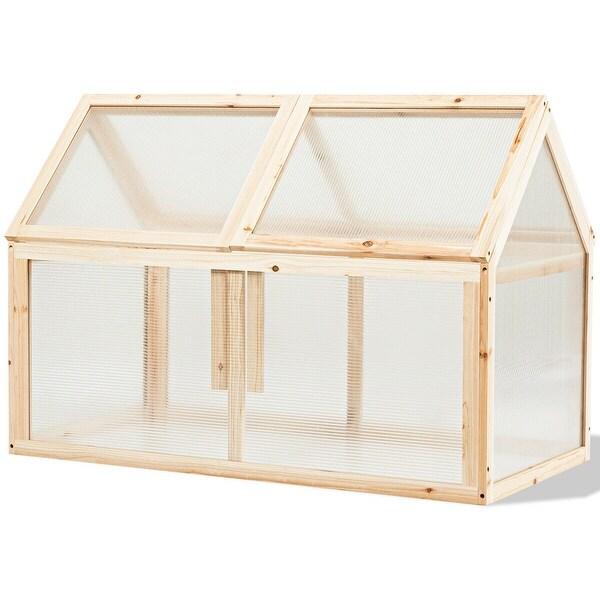 Outdoor Indoor Garden Wooden Cold Frame Greenhouse - Natural. Opens flyout.