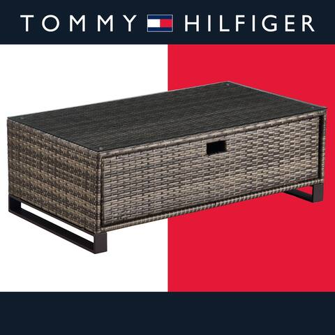 Tommy Hilfiger Oceanside Outdoor Storage Coffee Table, Gray