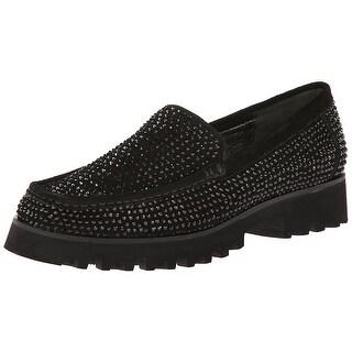 Donald J Pliner Women's Riosp Slip-On Loafer - black calf suede