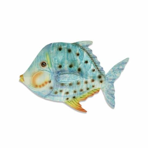 Caribbean Blue Fish Wall Decor - 1 x 9 x 6