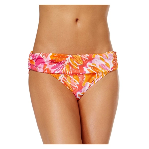 a8700a69fb564 Shop Ralph Lauren Tropical Printed Foldover Bikini Bottom Orange Womens  Swimsuit - Free Shipping On Orders Over $45 - Overstock - 28279186