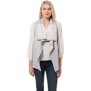 supply & demand Womens Casual Vest Sweatshirt Open Front