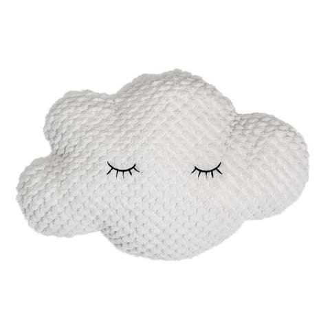 Polyester White Cloud Pillow with Eyelashes