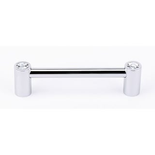 Alno C715-4 Contemporary Crystal 4 Inch Center to Center Handle Cabinet Pull