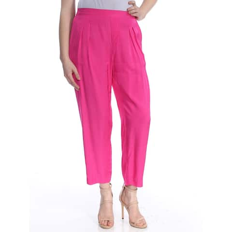 RALPH LAUREN Womens Pink Pleated Front Wear To Work Pants Size 12