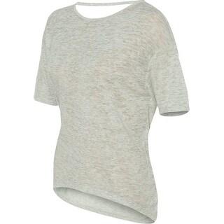 Alternative Womens Pony Melange Burnout T-Shirt w/ Strap - Oatmeal Heather L - Oatmeal Heather