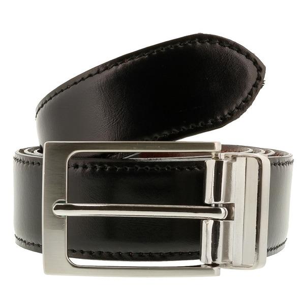 Romeo Gigli C885/35S NERO Black Leather Adjustable Mens Belt