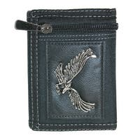 Parquet Men's Hook & Loop Trifold Wallet with Eagle Medallion - One size