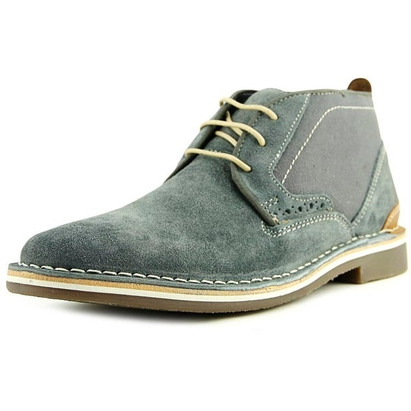 Steve Madden Hotshot Men Plain Toe Suede Gray Oxford