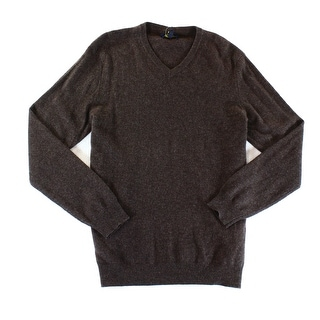 Club Room NEW Brown Mens Size Medium M V-Neck Cashmere Knit Sweater