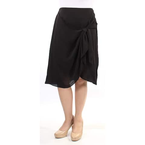 BAR III Womens Black Knee Length A-Line Skirt Size: 10