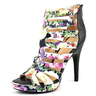 Bar III Ellie Women  Open-Toe Canvas Multi Color Heels