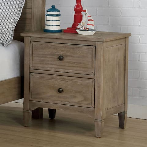 Furniture of America Lanister Transitional Grey 2-drawer Nightstand