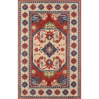 "Momeni Tangier Ivory Hand-Tufted Wool Rug - 7'6"" x 9'6"""