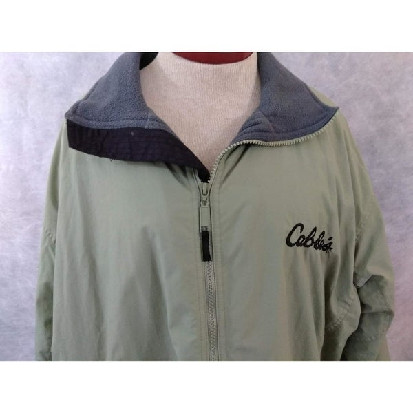 e38ae84cb59b7 Shop Cabela's mens Destination fleece coat jacket size L light green lined  - Free Shipping On Orders Over $45 - Overstock - 23030969