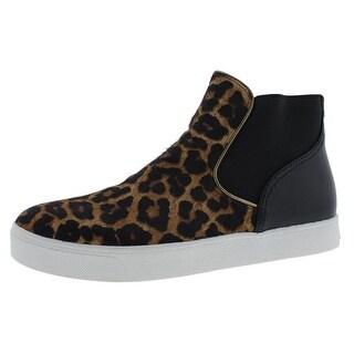 Sam Edelman Womens Margot Leather Leopard Print Fashion Sneakers - 9.5 medium (b,m)