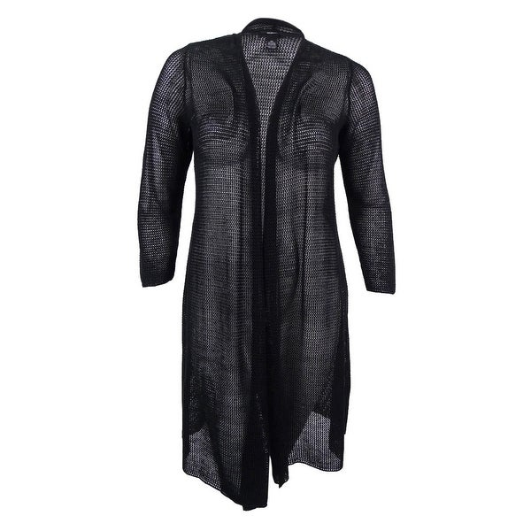 7b832ef794ccc Shop Alfani Women s Plus Size Duster Cardigan - Deep Black - Free Shipping  On Orders Over  45 - Overstock.com - 17019011