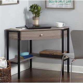 Link to Porch & Den Lincoln Reclaimed Wood Modern Corner Desk Similar Items in Corner Desks