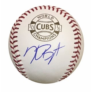 Kris Bryant Autographed 2016 World Series Signed Champions Baseball JSA COA