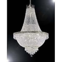Swarovski Crystal Trimmed French Empire Chandelier Lighting