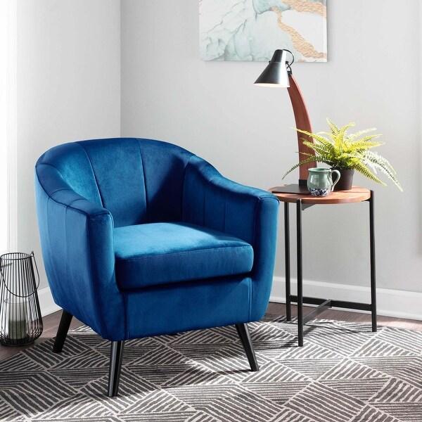 Silver Orchid Novello Velvet Upholstered Accent Chair
